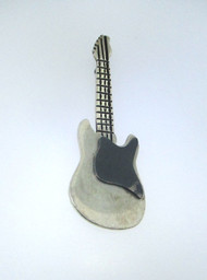 Sterling Silver Guitar Pin Brooch Marked Mexico