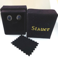 Sterling Created Sapphire Diamondaura Stauer Stud Earrings Royal Proposal