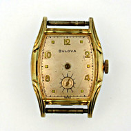 Vintage Bulova 17 Jewels Gold Filled Watch Case Movement and Dial Parts Steampunk (3005869CB)