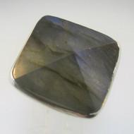Sterling Silver Large Labradorite Ring Size 8