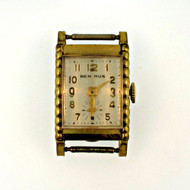 Vintage Benrus 15 Jewels Gold Tone Watch Case Movement and Dial Parts Steampunk (3005955CB)