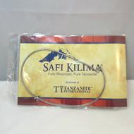 Silver Tone Safi Kilima Tanzanite Lavender Purple Trillion Cut Pendant on Omega Chain Necklace New in Package