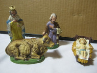 Old Nativity Figures Lot Christmas Made in Italy