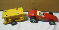 Nylint Grand Prix Special Pressed Steel Vintage Toy Car w/ Trailer