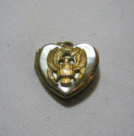 U.S. Army Vtg. G.F. Heart Locket Pendant