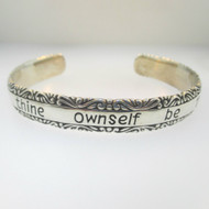 Sterling Silver To Thine Ownself Be True Cuff Bracelet