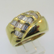 18k Yellow Gold Baguette Diamond Approx .50ct/TW Ring Size 7