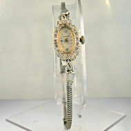 Vintage Hamilton Watch Co. 780 17 Jewels 14k White Gold Diamond Ladies Watch (B1012)