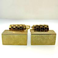 Vintage Foster Gold Tone Cufflinks (300.1760C CB)