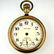 Antique 1918 Hamilton Watch Co. 992 21 Jewels 16s Gold Filled Pocket Watch (3006300CB)