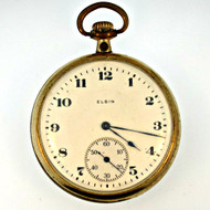 Antique 1920 Elgin National Watch Co. 17 Jewels 12s Gold Filled Pocket Watch Parts Steampunk (3006302CB)