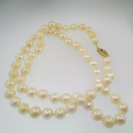"14k Yellow Gold Pearl Necklace 18"" Length"