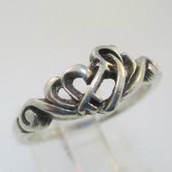 Sterling Silver Skeleton Key Ribbon Ring Size 8
