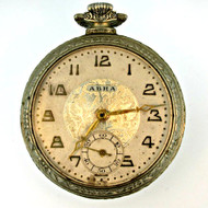 Antique Abra Watch Co. 6 Jewels 12s Gold Filled Pocket Watch Parts Steampunk (3006327CB)