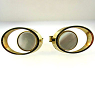 Vintage Round Gold Tone with Mother of Pearl Cufflinks (300.1770L CB)