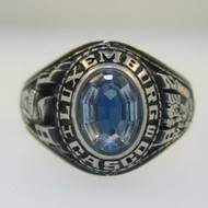 Silver Tone Luxemburg High School 1982 Class Ring Size 7.5