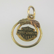 10K Black Hills Gold Harley Davidson Motor Cycles Pendant or Charm