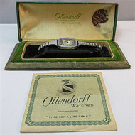 Vintage Ollendorff 15 Jewels Stainless Steel Watch Parts Steampunk with Original Box (3006359CB)