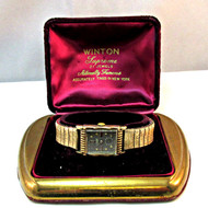 Vintage Winton Supreme 21 Jewels 10k Gold Filled Watch Parts Steampunk with Original Box (3006368CB)