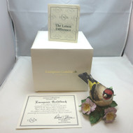Lenox Collections Porcelain Bird Figurine 1993 European Goldfinch Orig Box & COA