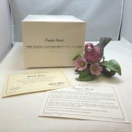 Lenox Garden Bird Collection Porcelain 1991 Purple Finch with Original Box & COA