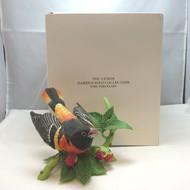 Lenox Garden Bird Collection Porcelain 1990 Baltimore Oriole with Original Box
