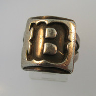 Vintage Sterling Silver Signet Initial B Ring Size 7
