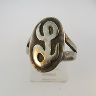 Vintage Sterling Silver Signet Initial L Ring Size 6 3/4
