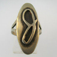 Vintage Sterling Silver Signet Initial J Ring Size 6