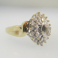 10k Yellow Gold Approx .25ct TW Diamond Fashion Ring Size 5 1/4