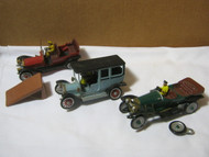 Gowland & Gowland Vintage Model Cars Lot Parts w/ Driver
