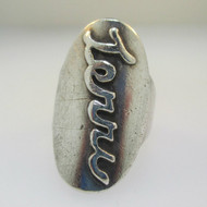 Sterling Silver Name Monogram Signet Terri Ring Size 5.5