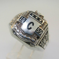 Sterling Silver High School Class 1959 Ring Size 6.25