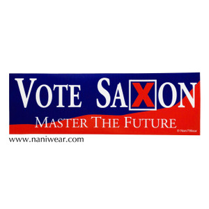 Doctor Who Inspired Bumper Sticker: Vote Saxon