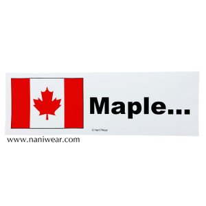 Hetalia Inspired Bumper Sticker: Canada, Maple...
