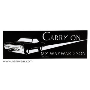 Supernatural Inspired Bumper Sticker: Carry On My Wayward Son