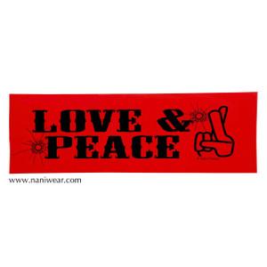 Trigun Inspired Bumper Sticker: Love & Peace