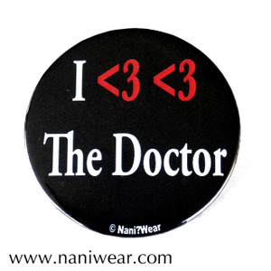 Doctor Who Inspired Button: I <3 <3 the Doctor