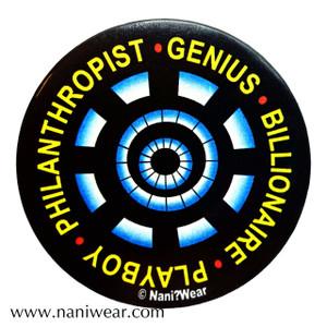 Iron Man Inspired Button: Genius Billionaire Playboy