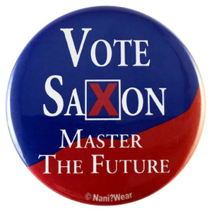 Doctor Who Inspired Button: Vote Saxon