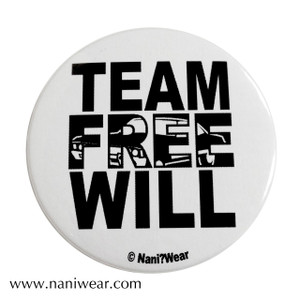 Supernatural Inspired Button: Team Free Will