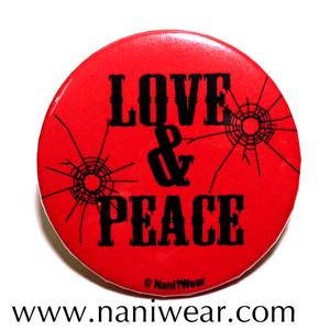 Trigun Inspired Button: Love & Peace