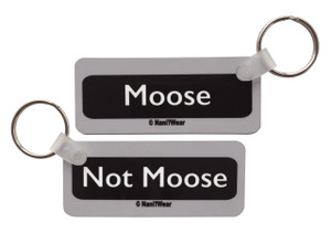Supernatural Inspired Double-Sided Keychain: Moose/Not Moose