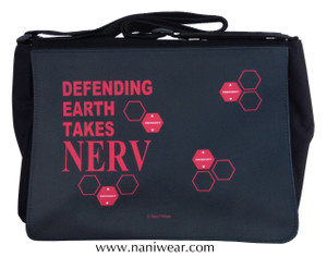 Evangelion Inspired Large Messenger/Laptop Bag: Defending Earth