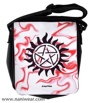 Supernatural Inspired Small Messenger Bag: Anti-Possession Sign
