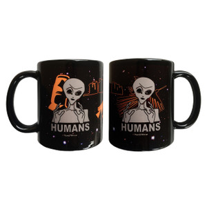 Ancient Aliens Inspired Double-Sided 11oz Mug Humans