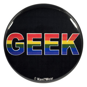 Gay Pride Geek 2.25 Inch Button