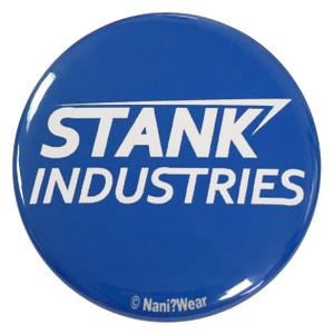 Captain America Civil War Inspired 2.25 Inch Tony Stark Parody Button Stank Industries