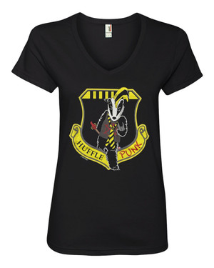 Harry Potter Hufflepuff House Women's V-Neck Fitted T-Shirt Hufflepunk