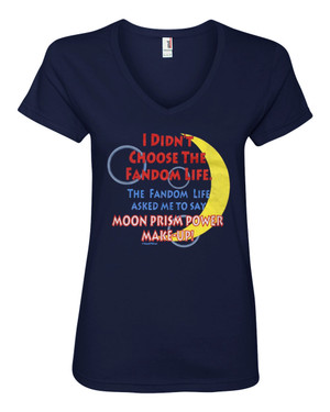 Sailor Moon Women's V-Neck Fitted T-Shirt I Didn't Choose the Fandom Life